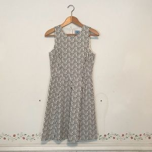 Cece Black and White Printed Dress size 2